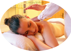 Woman receiving relaxation massage